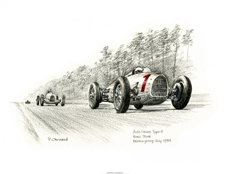 Hans Stuck - Auto Union Type A - SOLD