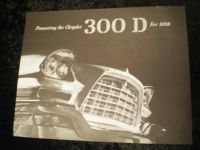 1958 Chrysler 300D Prestige Brochure